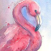 Картины и панно handmade. Livemaster - original item Pink flamingos. Handmade.