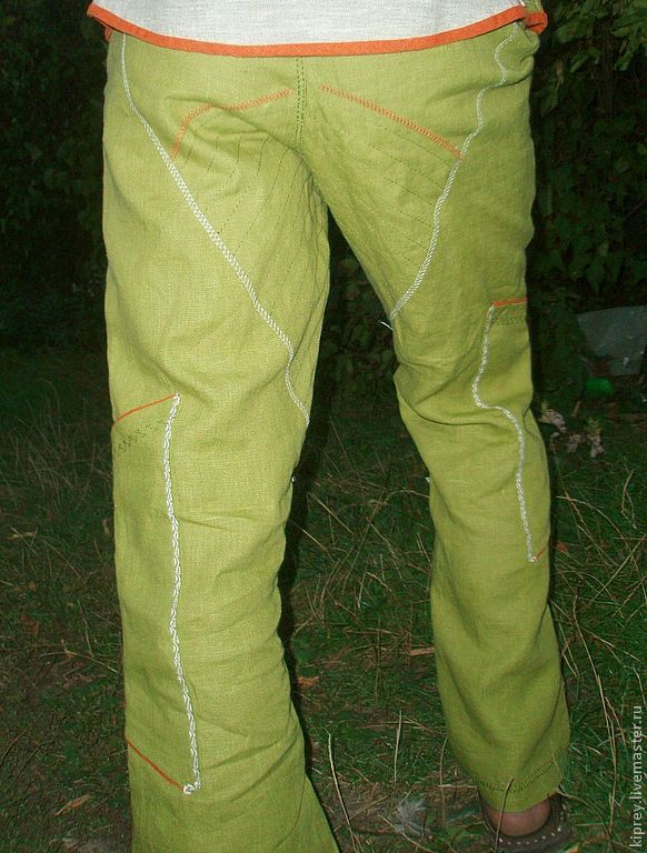 Как сшить брюки лен 853