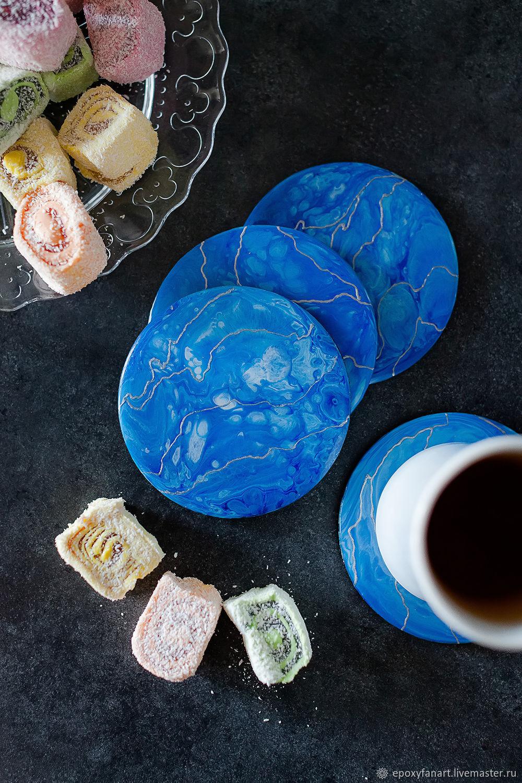 """Подставки под бокалы и кружки """"Blue planet"""", Подставки для бутылок и бокалов, Москва,  Фото №1"""