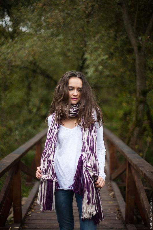 Шарф вязаный, вязаный шарф, шерстяной шарф, armknitting, модный шарф, объемный шарф, дизайнерский шарф, дизайнерские вещи