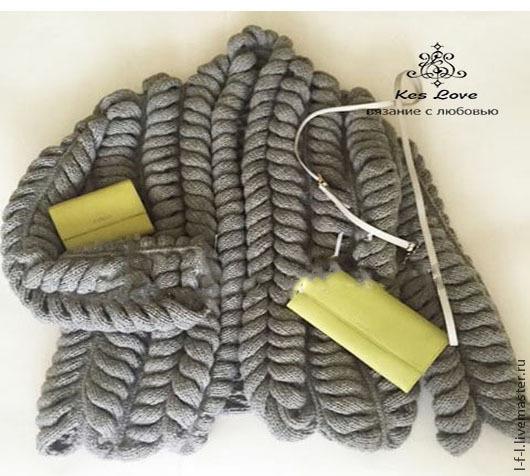 """Кофты и свитера ручной работы. Ярмарка Мастеров - ручная работа. Купить Вязаный кардиган """"Шиншила"""" азиатский колосок, колос. Handmade."""