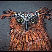 Картины и панно ручной работы. Ярмарка Мастеров - ручная работа Совы. Handmade.