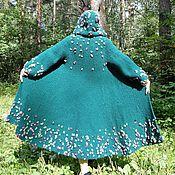 Одежда ручной работы. Ярмарка Мастеров - ручная работа Пальто с капюшоном приталенное связанное спицами. Handmade.