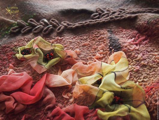 """Шапки ручной работы. Ярмарка Мастеров - ручная работа. Купить Комплект шапка и бактус """" Для неё"""". Handmade. Рыжий"""