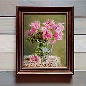 Картины и панно handmade. Livemaster - original item Paintings:Oil painting of Tulips. Handmade.