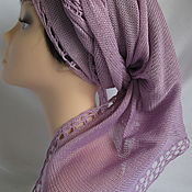 Аксессуары handmade. Livemaster - original item Kerchief knitted lilac summer Cotton. Handmade.