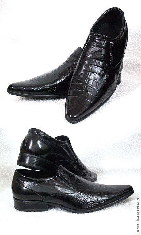 Обувь ручной работы. Ярмарка Мастеров - ручная работа. Купить Мужские туфли. Handmade. Черный, ботинки, обувь ручной работы