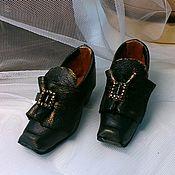 Куклы и игрушки ручной работы. Ярмарка Мастеров - ручная работа Винтажные кукольные туфельки. Handmade.