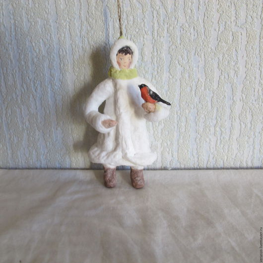 Девочка со снегирём  ПРОДАНО