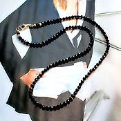Украшения handmade. Livemaster - original item Beads of natural black spinel Elegant lady. Handmade.