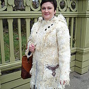 "Одежда ручной работы. Ярмарка Мастеров - ручная работа Куртка валяная ""Шаманка"". Handmade."