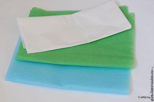 Упаковка ручной работы. Ярмарка Мастеров - ручная работа. Купить Бумага тишью зеленая, голубая. Handmade. Ярко-зелёный