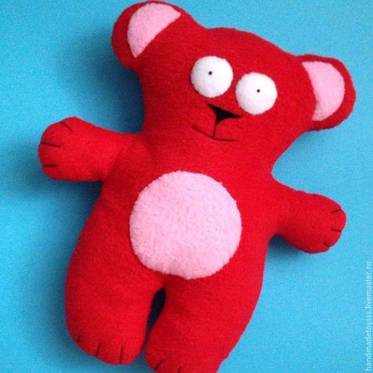 Игрушки животные, ручной работы. Ярмарка Мастеров - ручная работа. Купить Мишка. Handmade. Ярко-красный, мишка, ручная работа