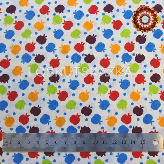 Ткань хлопок `Яблочки на снегу`. Код товара: DFS-00031