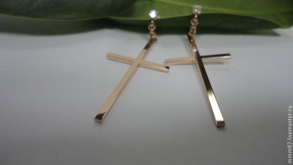 фото серьги кресты
