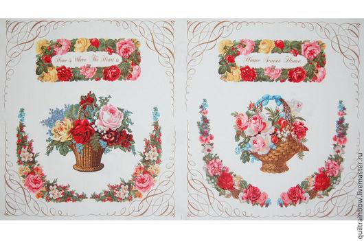 """Шитье ручной работы. Ярмарка Мастеров - ручная работа. Купить Хлопок """"Любимый дом"""" (панель). Handmade. Разноцветный, панель ткань"""