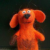 Куклы и игрушки ручной работы. Ярмарка Мастеров - ручная работа Игрушка пальчиковая Собачка. Handmade.