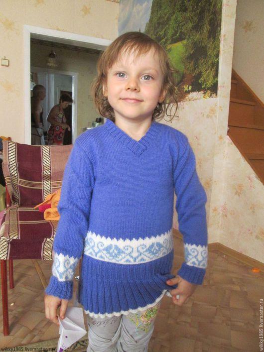 Одежда для девочек, ручной работы. Ярмарка Мастеров - ручная работа. Купить Вязаный свитер для девочки. Handmade. Сиреневый, свитер вязаный