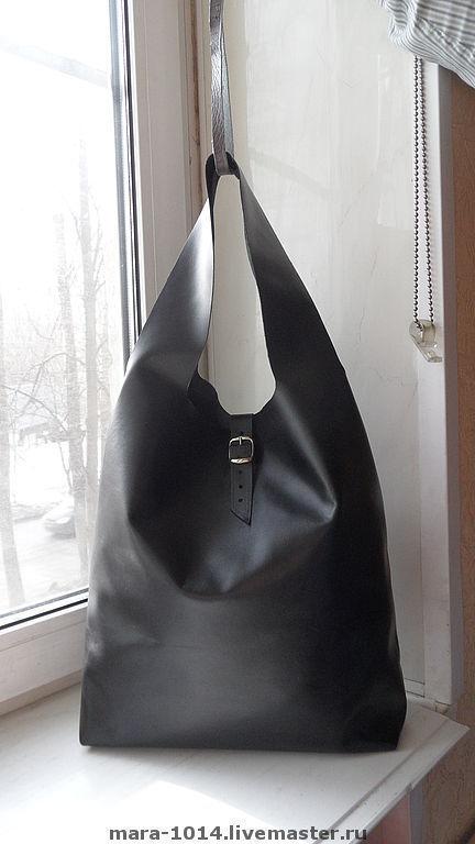Женские сумки ручной работы. Ярмарка Мастеров - ручная работа. Купить ПАКЕТ-МАЙКА  черный. Handmade. Сумка, сумка-мешок