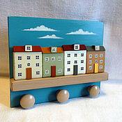 Для дома и интерьера ручной работы. Ярмарка Мастеров - ручная работа ключница/вешалка. Handmade.