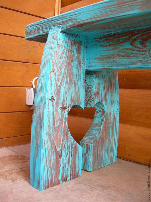 """Мебель ручной работы. Ярмарка Мастеров - ручная работа. Купить Лавка """"Деревенский ноктюрн"""". Handmade. Прованс, лавка, сердце, изба"""