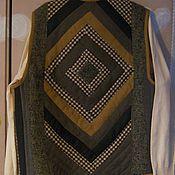 """Одежда ручной работы. Ярмарка Мастеров - ручная работа Лоскутный жилет """"Охра"""". Handmade."""