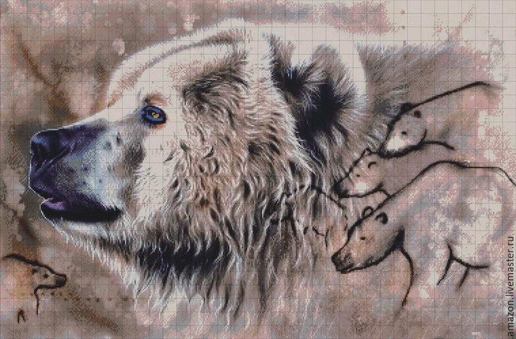 Kit embroidery with beads 'Bear', Embroidery kits, Ufa,  Фото №1