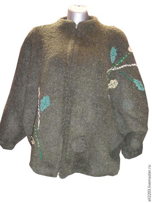 Пиджаки, жакеты ручной работы. Ярмарка Мастеров - ручная работа. Купить Жакет демисезонный. Handmade. Тёмно-зелёный, жакет демисезонный