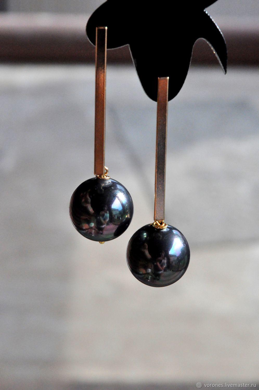 Earrings in gold 'Audrey', Earrings, Moscow, Фото №1