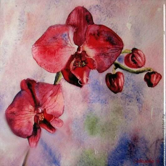 """Картина """"Орхидея"""" сублимация, авторская печать на керамической плитке - Soboleva Art"""