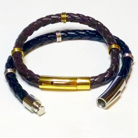 Украшения для мужчин, ручной работы. Ярмарка Мастеров - ручная работа. Купить 6 мм. кожаный браслет. Handmade. Браслет
