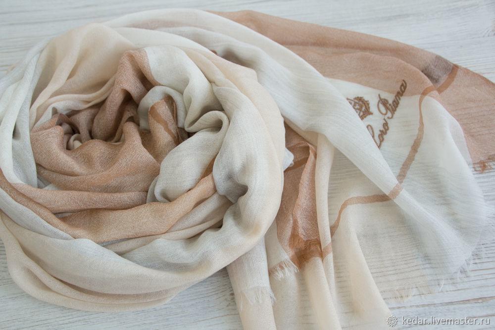 Палантин  премиум-кашемир из ткани Loro Piana, Палантины, Москва,  Фото №1