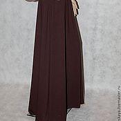 Одежда ручной работы. Ярмарка Мастеров - ручная работа Юбка коричневая макси. Handmade.