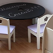 Для дома и интерьера ручной работы. Ярмарка Мастеров - ручная работа Стол, на котором можно рисовать мелками. Handmade.