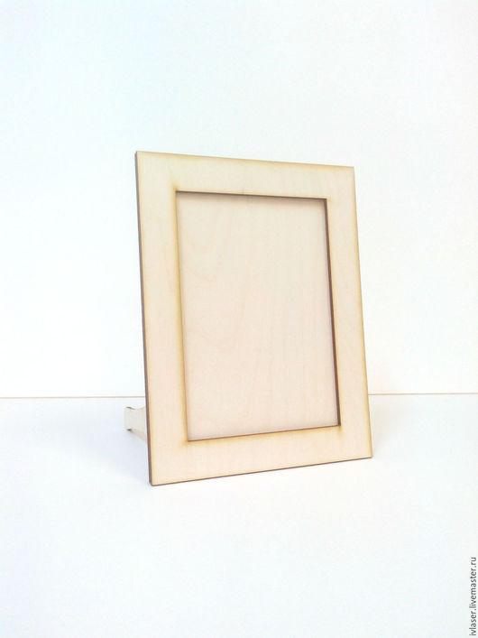 IVL-460-3 Фоторамка заготовка для декупажа и росписи из фанеры. Заготовка из фанеры.  Фоторамку для фото 9х13 см, также можно использовать как основу для зеркала.