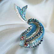Украшения ручной работы. Ярмарка Мастеров - ручная работа Сказочная рыбка брошь. Handmade.