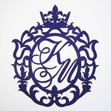 Свадебный салон ручной работы. Ярмарка Мастеров - ручная работа Копия работы Свадебный герб из дерева. Handmade.