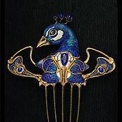 Украшения ручной работы. Ярмарка Мастеров - ручная работа La danse du paon bleu azur. Handmade.