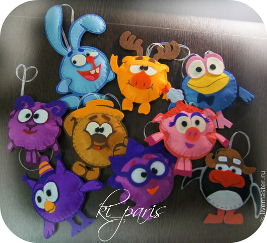 Смешарики (игрушки для детей и на ёлку)