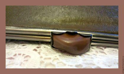 Винтажные сумки и кошельки. Ярмарка Мастеров - ручная работа. Купить Винтажная сумка клатч 30 е годы. Handmade. Коричневый