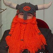 Одежда ручной работы. Ярмарка Мастеров - ручная работа Шапка с бородой. Handmade.