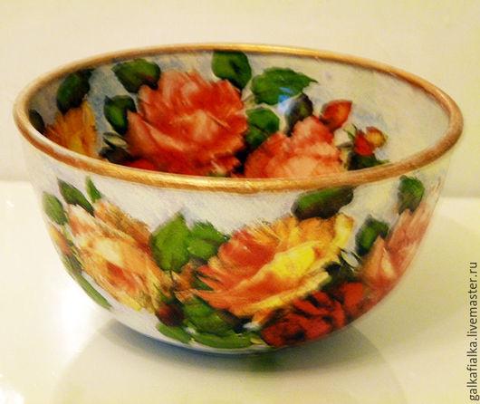 Салатники ручной работы. Ярмарка Мастеров - ручная работа. Купить салатник  большой  Как хороши эти розы. Handmade. Комбинированный
