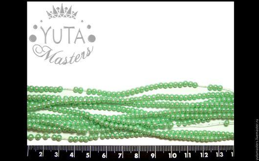 Л6-66, Бусины жемчуг стеклянный Цена - 20 грн / 1 нить (~230 шт) 10 грн / полнити (~115 шт)