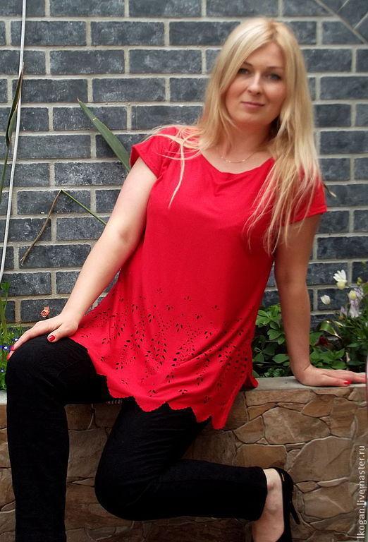 Блузки ручной работы. Ярмарка Мастеров - ручная работа. Купить Туника-блуза Кармен. Handmade. Однотонный, для будущих мам