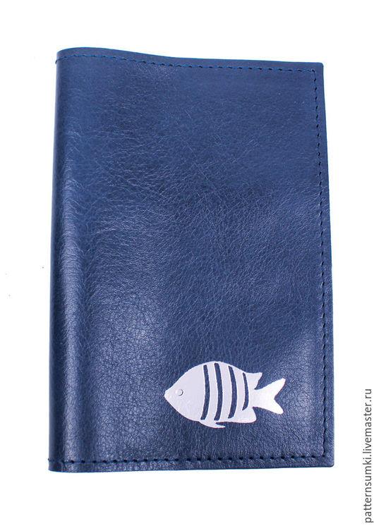 Обложка для паспорта из кожи Pattern Fish