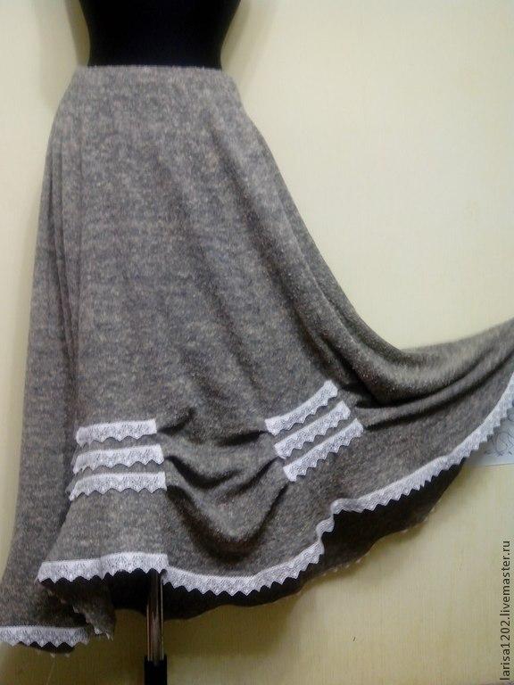 Длинные вязаные юбки доставка