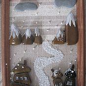 Картины и панно ручной работы. Ярмарка Мастеров - ручная работа КРИВАЯ ДЕРЕВЕНЬКА. Handmade.