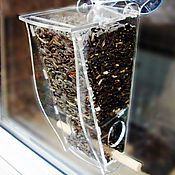 Для дома и интерьера handmade. Livemaster - original item Transparent bird feeder on the window