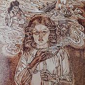 """Картины и панно ручной работы. Ярмарка Мастеров - ручная работа Картина """"Ворожба"""". Handmade."""