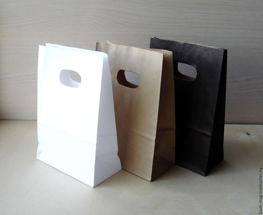 Упаковка ручной работы. Ярмарка Мастеров - ручная работа. Купить Крафт-пакет с прорубной ручкой. Handmade. Упаковка для подарка